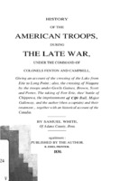 Image of History of the American troops