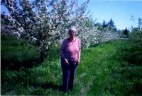 Image of Iris Brunger in the orchards